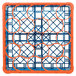 Carlisle RW20-C412 OptiClean NeWave 20 Compartment Orange Color-Coded Glass Rack with 1 Integrated Extender Thumbnail 4