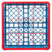 Carlisle RG9-5C410 OptiClean 9 Compartment Red Color-Coded Glass Rack with 5 Extenders Thumbnail 4
