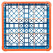 Carlisle RG9-4C412 OptiClean 9 Compartment Orange Color-Coded Glass Rack with 4 Extenders Thumbnail 4