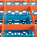 Carlisle RG9-4C412 OptiClean 9 Compartment Orange Color-Coded Glass Rack with 4 Extenders Thumbnail 7