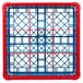 Carlisle RG9-2C410 OptiClean 9 Compartment Red Color-Coded Glass Rack with 2 Extenders Thumbnail 4