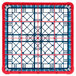 Carlisle RG16-5C410 OptiClean 16 Compartment Red Color-Coded Glass Rack with 5 Extenders Thumbnail 4