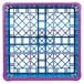 Carlisle RG9-4C414 OptiClean 9 Compartment Lavender Color-Coded Glass Rack with 4 Extenders Thumbnail 4