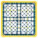 Carlisle RG16-5C411 OptiClean 16 Compartment Yellow Color-Coded Glass Rack with 5 Extenders Thumbnail 4