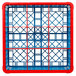 Carlisle RG9-3C410 OptiClean 9 Compartment Red Color-Coded Glass Rack with 3 Extenders Thumbnail 4