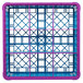Carlisle RG9-3C414 OptiClean 9 Compartment Lavender Color-Coded Glass Rack with 3 Extenders Thumbnail 4
