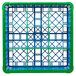 Carlisle RG9-5C413 OptiClean 9 Compartment Green Color-Coded Glass Rack with 5 Extenders Thumbnail 4