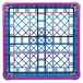 Carlisle RG9-2C414 OptiClean 9 Compartment Lavender Color-Coded Glass Rack with 2 Extenders Thumbnail 4