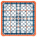Carlisle RG16-5C412 OptiClean 16 Compartment Orange Color-Coded Glass Rack with 5 Extenders Thumbnail 4