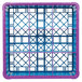 Carlisle RG9-5C414 OptiClean 9 Compartment Lavender Color-Coded Glass Rack with 5 Extenders Thumbnail 4