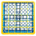 Carlisle RG25-5C411 OptiClean 25 Compartment Yellow Color-Coded Glass Rack with 5 Extenders Thumbnail 4