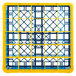 Carlisle RG25-1C411 OptiClean 25 Compartment Yellow Color-Coded Glass Rack with 1 Extender Thumbnail 4