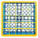Carlisle RG25-3C411 OptiClean 25 Compartment Yellow Color-Coded Glass Rack with 3 Extenders Thumbnail 4