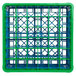 Carlisle RG36-3C413 OptiClean 36 Compartment Green Color-Coded Glass Rack with 3 Extenders Thumbnail 4