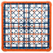 Carlisle RG36-1C412 OptiClean 36 Compartment Orange Color-Coded Glass Rack with 1 Extender Thumbnail 4