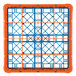 Carlisle RG25-2C412 OptiClean 25 Compartment Orange Color-Coded Glass Rack with 2 Extenders Thumbnail 4