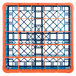 Carlisle RG25-1C412 OptiClean 25 Compartment Orange Color-Coded Glass Rack with 1 Extender Thumbnail 4