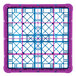 Carlisle RG25-2C414 OptiClean 25 Compartment Lavender Color-Coded Glass Rack with 2 Extenders Thumbnail 4