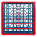 Carlisle RG36-5C410 OptiClean 36 Compartment Red Color-Coded Glass Rack with 5 Extenders Thumbnail 4