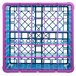 Carlisle RG25-3C414 OptiClean 25 Compartment Lavender Color-Coded Glass Rack with 3 Extenders Thumbnail 4