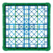 Carlisle RG25-2C413 OptiClean 25 Compartment Green Color-Coded Glass Rack with 2 Extenders Thumbnail 4