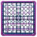 Carlisle RG36-1C414 OptiClean 36 Compartment Lavender Color-Coded Glass Rack with 1 Extender Thumbnail 4