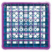 Carlisle RG36-3C414 OptiClean 36 Compartment Lavender Color-Coded Glass Rack with 3 Extenders Thumbnail 4