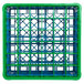 Carlisle RG36-2C413 OptiClean 36 Compartment Green Color-Coded Glass Rack with 2 Extenders Thumbnail 4