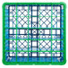 Carlisle RG25-5C413 OptiClean 25 Compartment Green Color-Coded Glass Rack with 5 Extenders Thumbnail 4