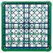 Carlisle RG36-1C413 OptiClean 36 Compartment Green Color-Coded Glass Rack with 1 Extender Thumbnail 4