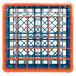 Carlisle RG36-4C412 OptiClean 36 Compartment Orange Color-Coded Glass Rack with 4 Extenders Thumbnail 4