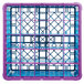 Carlisle RG25-5C414 OptiClean 25 Compartment Lavender Color-Coded Glass Rack with 5 Extenders Thumbnail 4