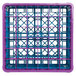 Carlisle RG36-2C414 OptiClean 36 Compartment Lavender Color-Coded Glass Rack with 2 Extenders Thumbnail 4
