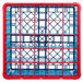 Carlisle RG25-5C410 OptiClean 25 Compartment Red Color-Coded Glass Rack with 5 Extenders Thumbnail 4