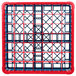 Carlisle RG49-3C410 OptiClean 49 Compartment Red Color-Coded Glass Rack with 3 Extenders Thumbnail 4