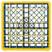 Carlisle RG49-3C411 OptiClean 49 Compartment Yellow Color-Coded Glass Rack with 3 Extenders Thumbnail 4