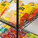 """Regency Black Epoxy 5-Shelf Angled Stationary Merchandising Rack - 18"""" x 24"""" x 74"""" Thumbnail 4"""