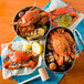 "Linton's 5 3/4"" Medium Seasoned Steamed Large Maryland Blue Crabs - 36/Case Thumbnail 6"