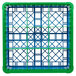 Carlisle RG9-2C413 OptiClean 9 Compartment Green Color-Coded Glass Rack with 2 Extenders Thumbnail 4