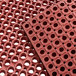"""Choice 3' x 5' Red Rubber Straight Edge Grease-Resistant Anti-Fatigue Floor Mat, 3/4"""" Thick Thumbnail 4"""