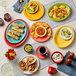 "Acopa Capri 6 1/8"" Passion Fruit Red China Plate - 24/Case Thumbnail 4"