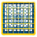 Carlisle RG36-4C411 OptiClean 36 Compartment Yellow Color-Coded Glass Rack with 4 Extenders Thumbnail 4