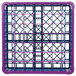 Carlisle RG49-3C414 OptiClean 49 Compartment Lavender Color-Coded Glass Rack with 3 Extenders Thumbnail 4