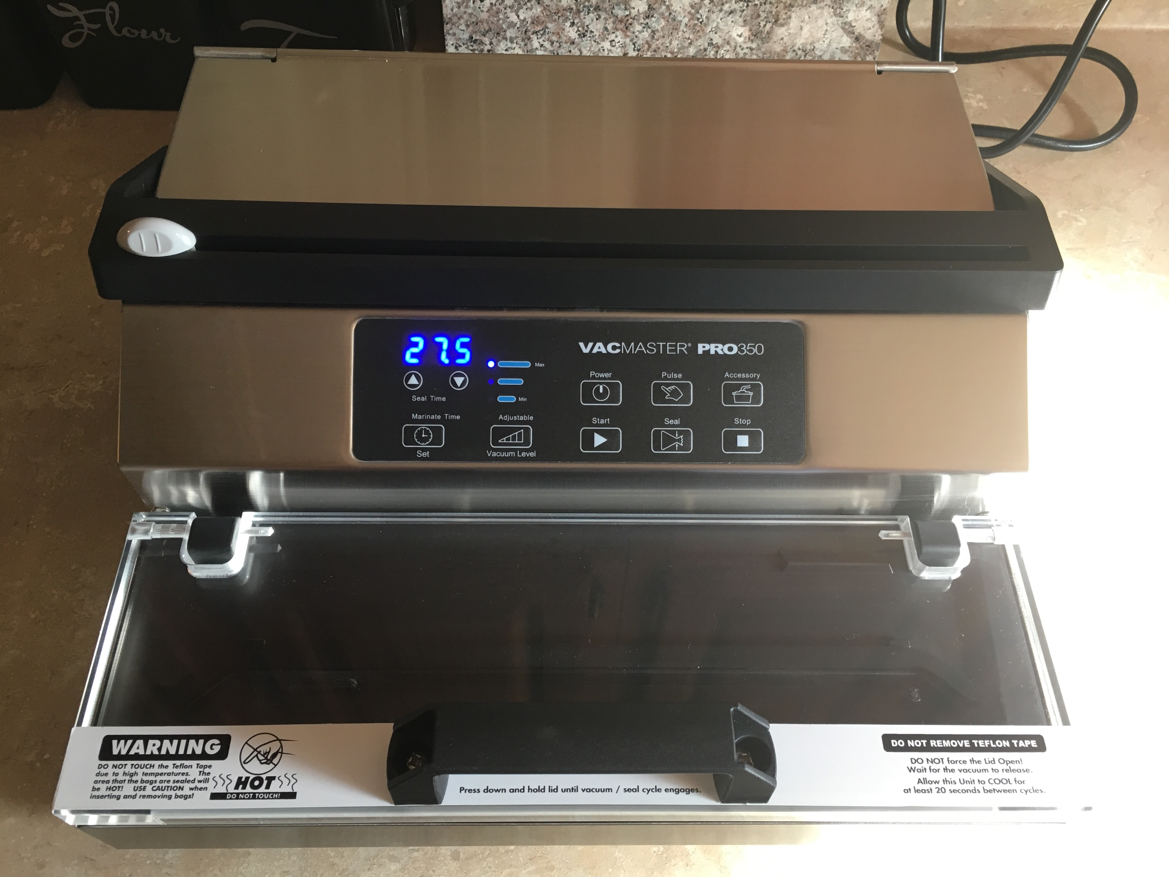 ARY VacMaster PRO 350 External Vacuum Packaging Machine with 12