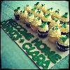 24 Cupcakes arranged on the board for a Welcome Home Party for a double lung transplant patient