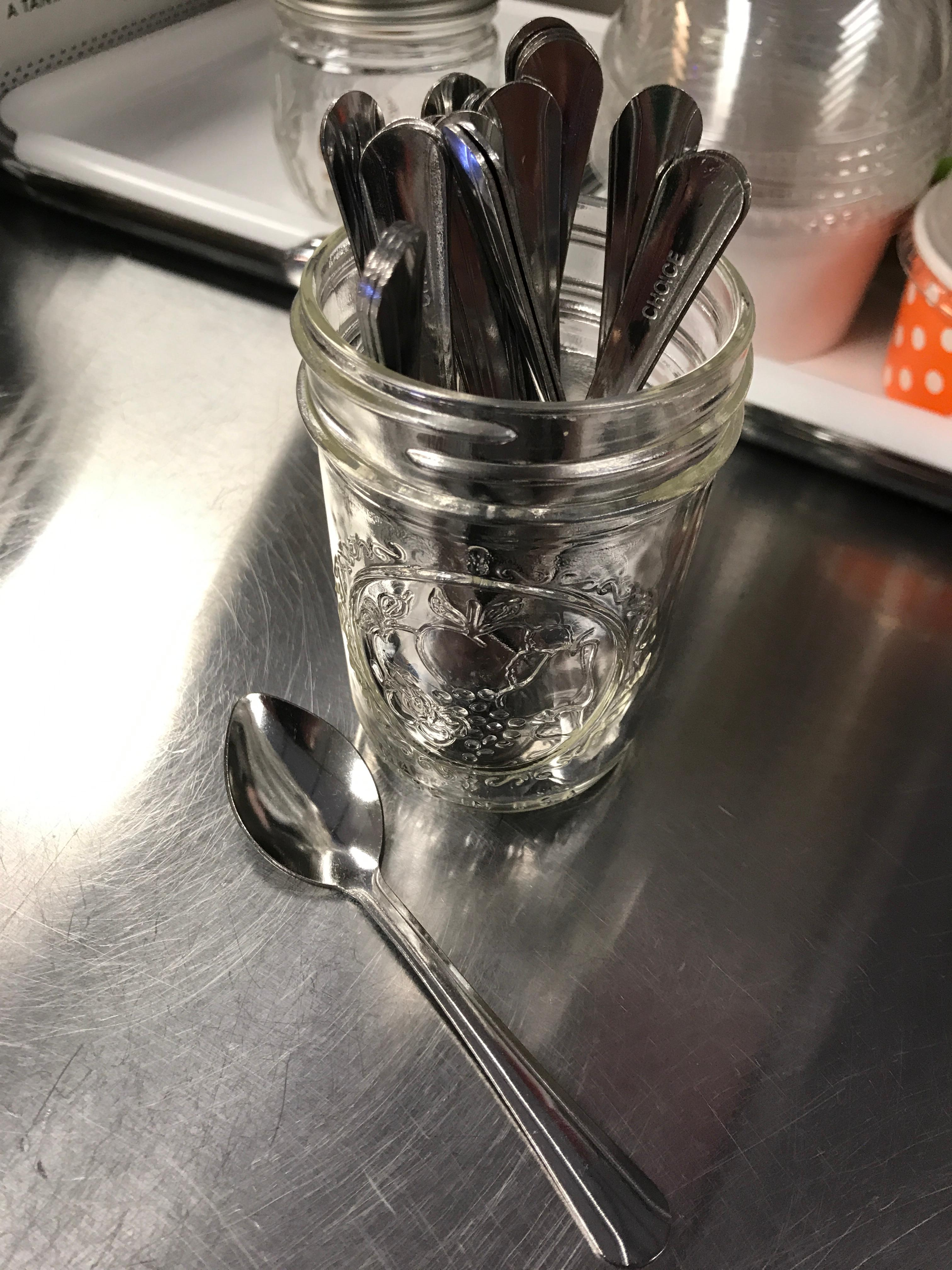 Acrylic Pen Demitasse Spoon Display Stand