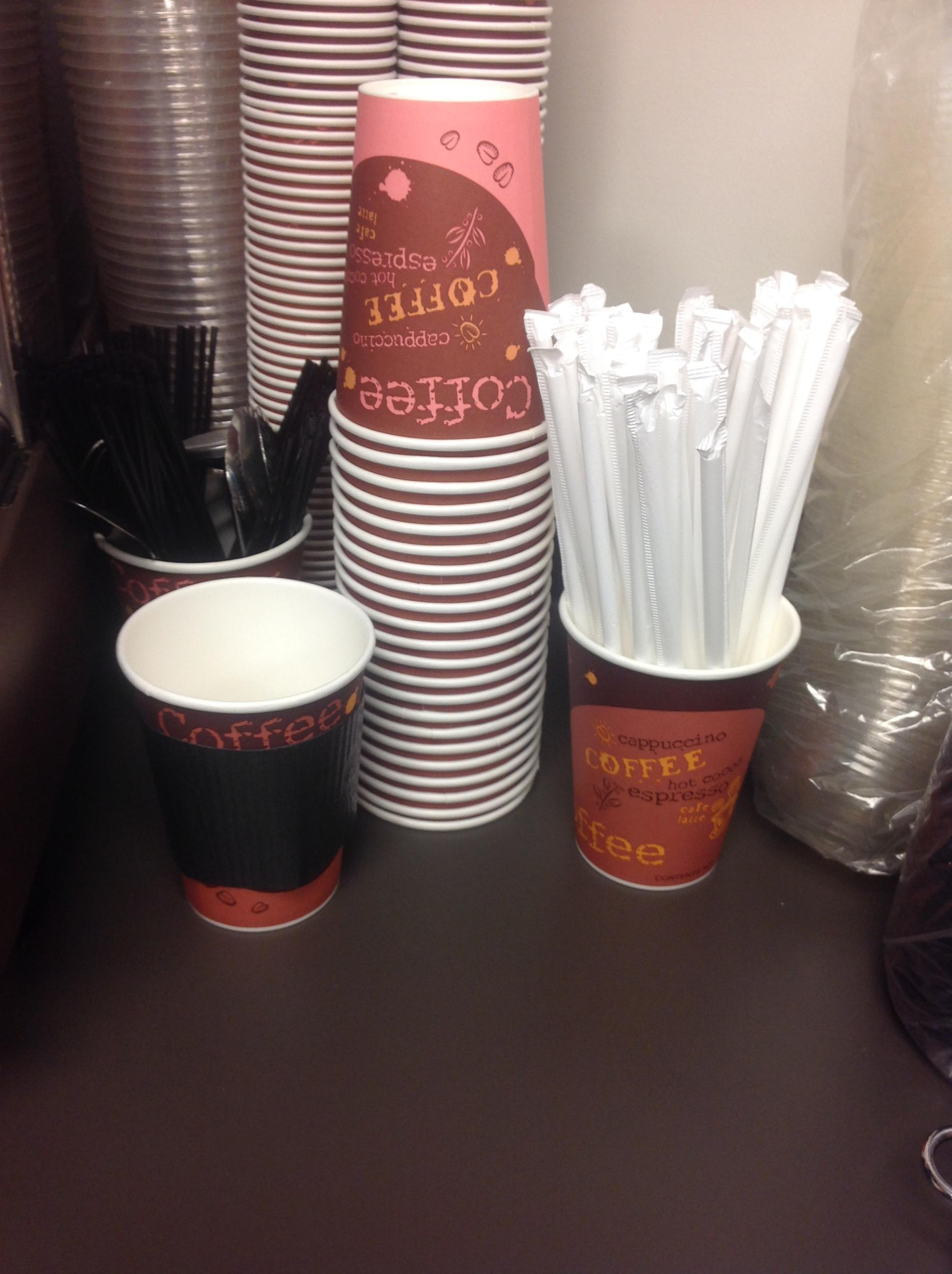 Choice 12 oz  Coffee Print Poly Paper Hot Cup - 1000/Case