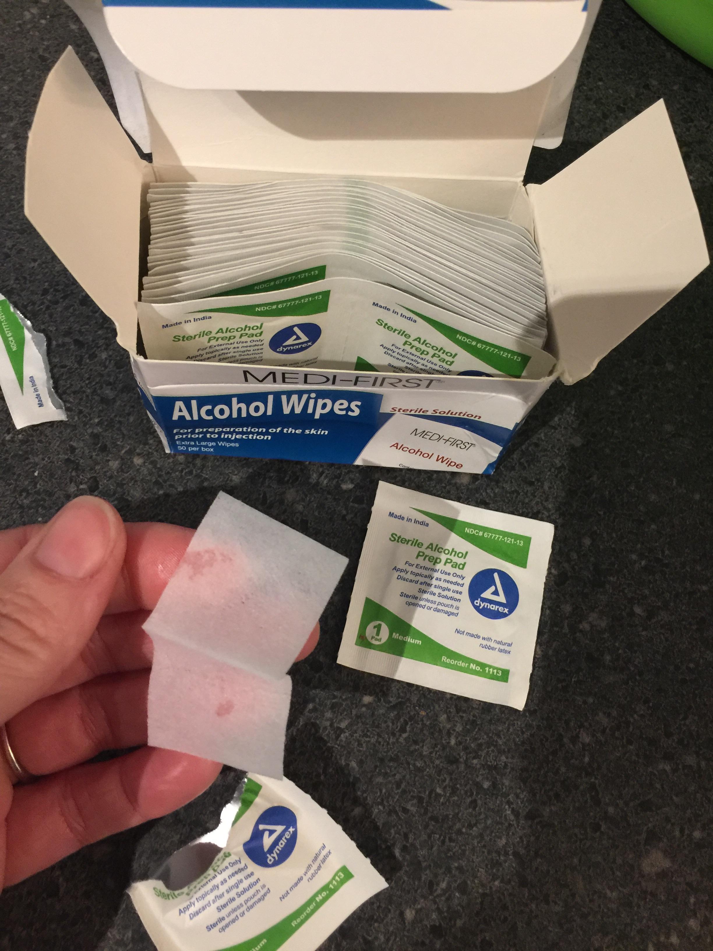 Medi-First Alcohol Wipes / Prep Pads - 50/Box