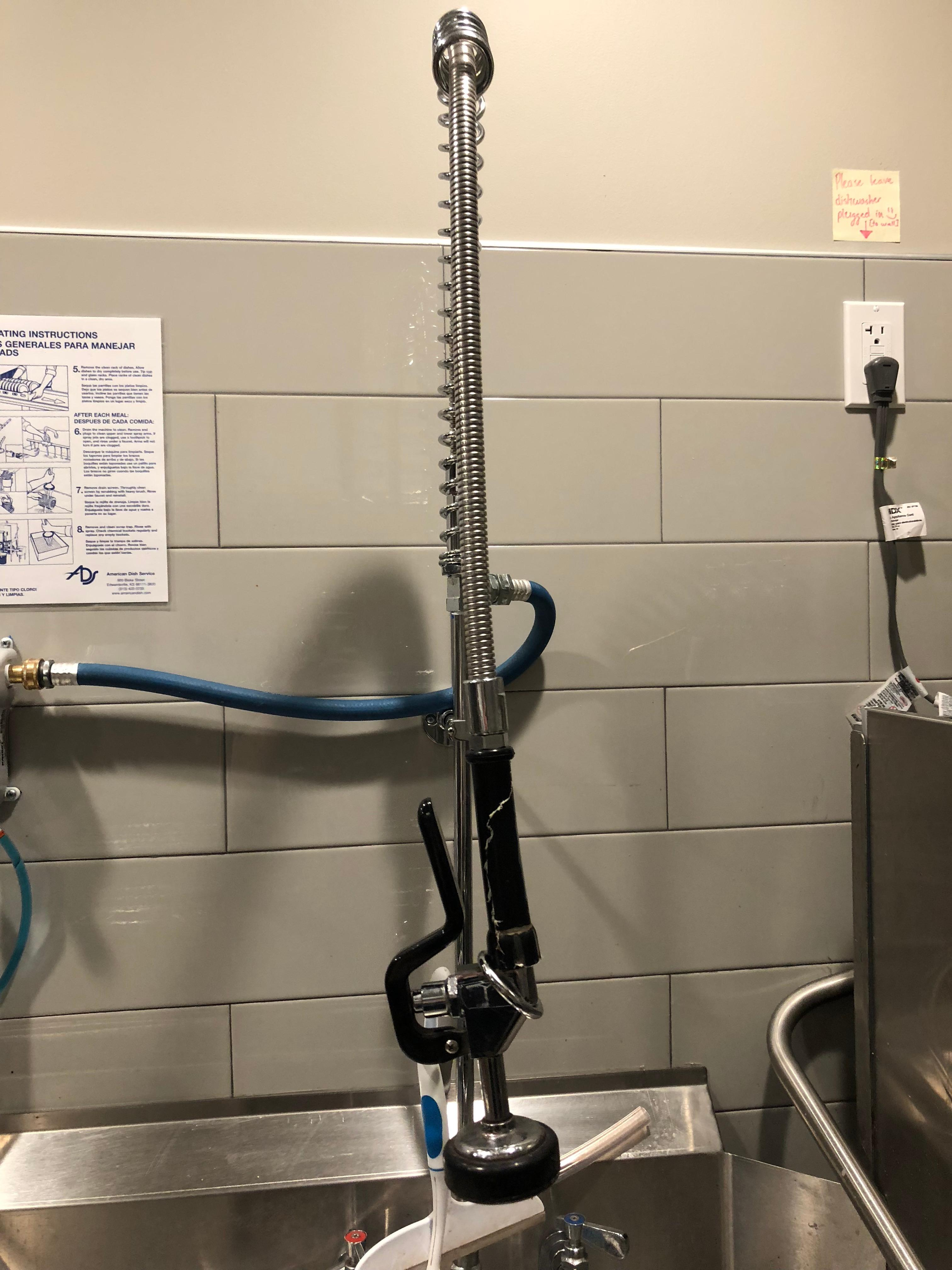 Regency 142 Gpm Chrome Plated Wall Mounted Pre Rinse Faucet With 8 Jets Hand Shower Cupc Further Pallet Jack Parts Diagram Centers