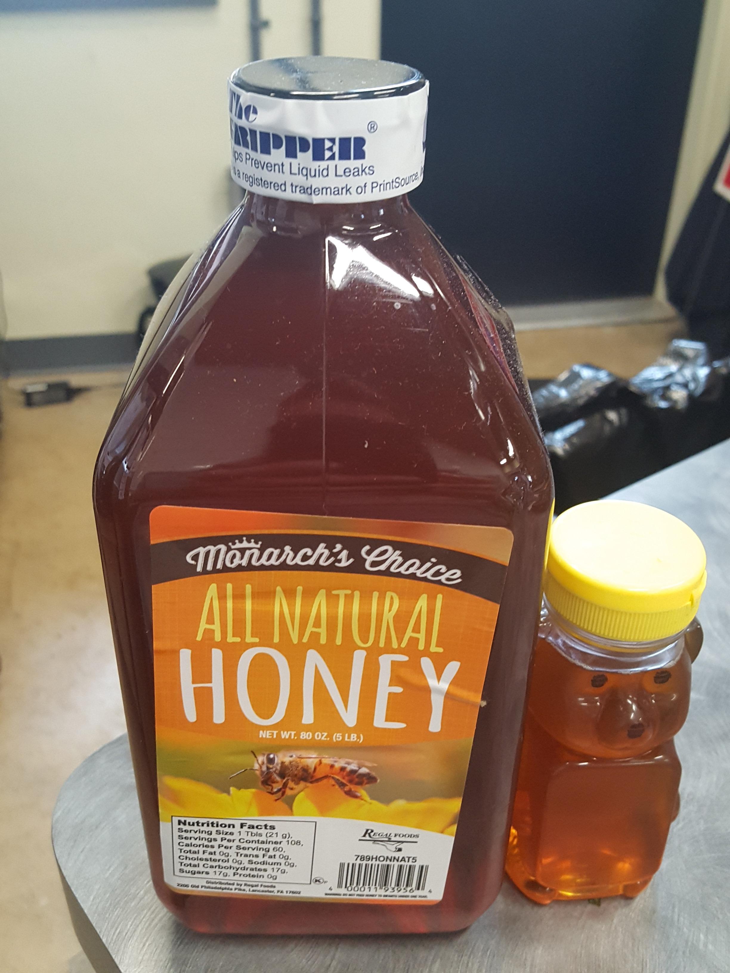 Monarch's Choice 5 lb  All Natural Honey